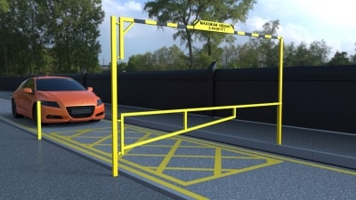 single height restrictor and manual swing gate combination